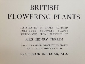 British Flowering Plants Title Page